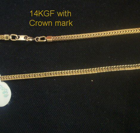 14K GF Herringbone Chain