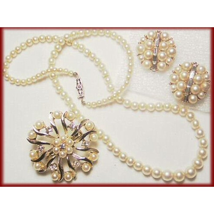 3-Pc. Faux Pearl Collection with Lisner Earrings