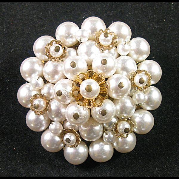 Large Japan Faux Pearl Brooch