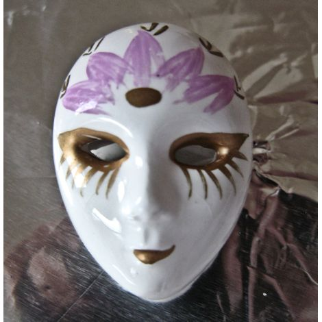 Porcelain Venetian Mask Brooch
