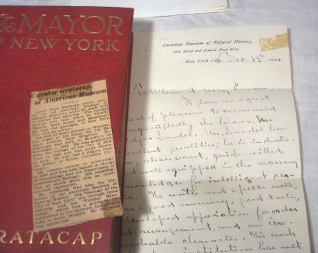 SIGNED L P Gratacap Book Pkg, The Mayor of New York