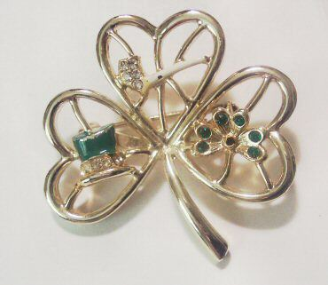 Tribute to the Irish Shamrock Brooch