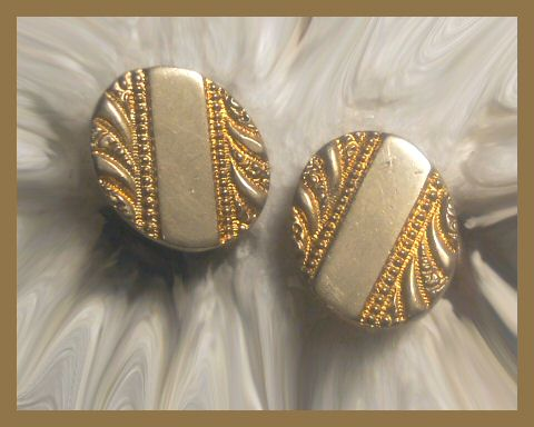 Antique Victorian or Art Nouveau Gold Face Cuff Links