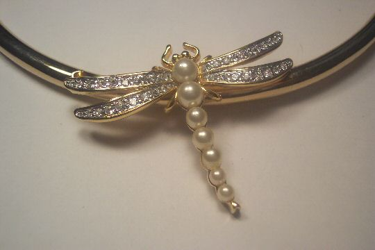 Jeweled Dragonfly Necklace