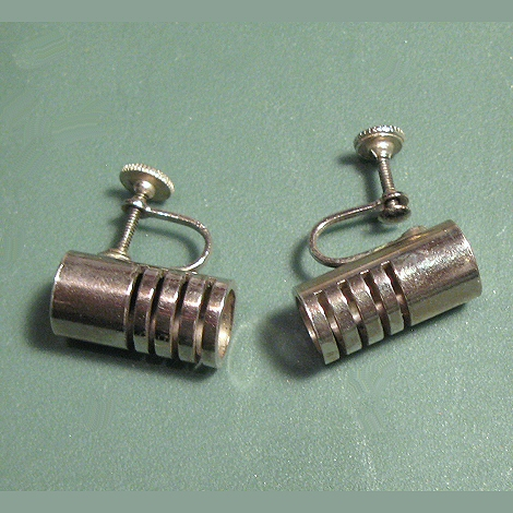 Mid Century Modern Industrial Look Earrings