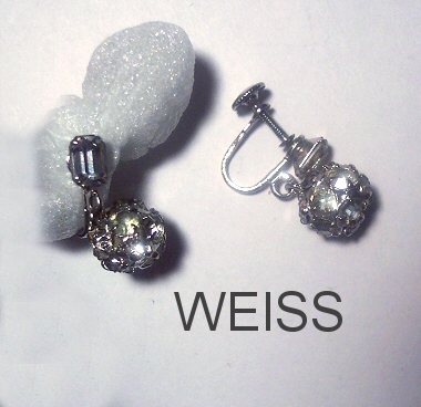 Weiss Disco Ball Earrings