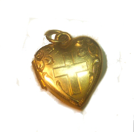 H.F.B. Victorian Gold Filled Heart Locket