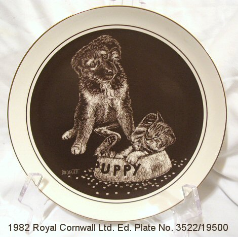 Royal Cornwall Ltd Ed Guest for Dinner Plate by Droguett