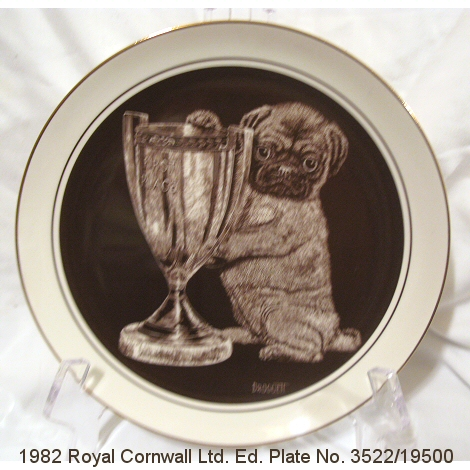 Royal Cornwall Ltd Ed Top Dog Plate by Droguett
