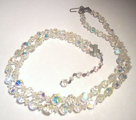 Crystal Aurora Borealis 2 Strand Necklace
