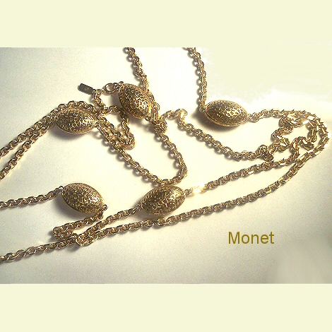 Monet Filigree Bead Necklace