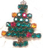 Made in Austria Rhinestone Christmas Tree Pin