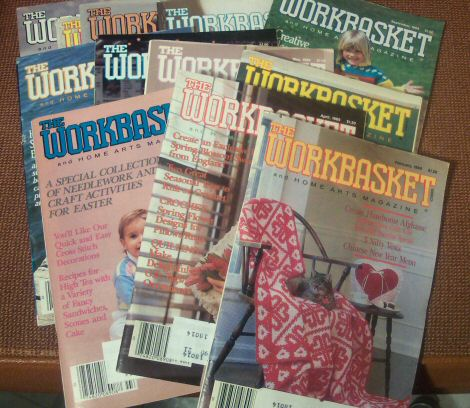 12 Issues Workbasket and Home Arts Magazine 1980s-1990