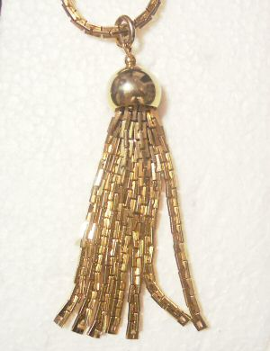 Mid-Century Tassel Necklace