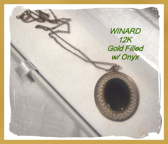 Winard 12K GF Onyx Necklace