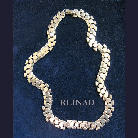 Reinad Large Mesh Link Necklace