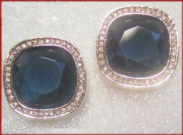 Large Sapphire Blue S.A.L. (Swarovski) Earrings