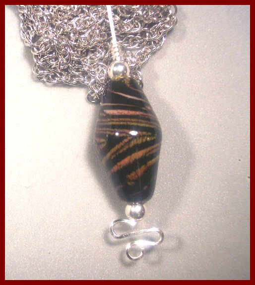 Nancy Safko Exotic Flameworked Glass Pendant