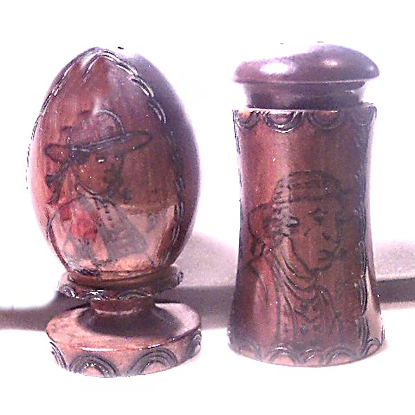 Wooden Made in France Salt Pepper Shakers