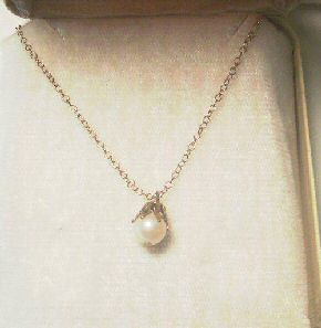 Cultured Pearl Necklace, 12K GF Chain